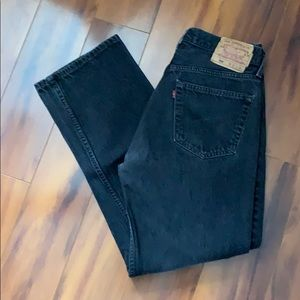 Levi's Black 501 Button Fly Jeans  32x30